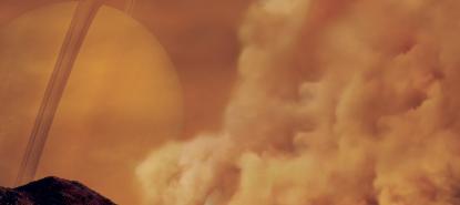 Tempête de poussière sur Titan