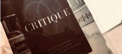 Couverture revue Critique